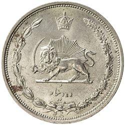 IRAN: Reza Shah, 1924-1941, copper-nickel 10 dinars, SH1310. AU