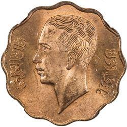 IRAQ: Ghazi I, 1933-1939, AE 10 fils, 1938/AH1357. NGC MS64