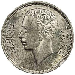 IRAQ: Ghazi I, 1933-1939, AR 50 fils, 1938/AH1357. NGC MS62