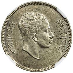 IRAQ: Faisal II, 1939-1958, AR 20 fils, 1953/AH1372. NGC MS61