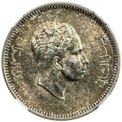 IRAQ: Faisal II, 1939-1958, AR 20 fils, 1955/AH1375. NGC MS62