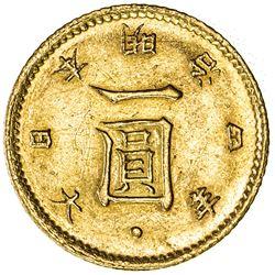 JAPAN: Meiji, 1867-1912, AV yen, year 4 (1871). AU