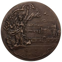 JAPAN: Taisho, 1912-1926, AE medal, year 8 (1919) Treaty of Versailles ending World War I, EF