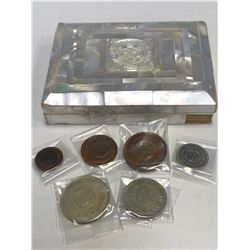 JORDAN: : Hussain b. Talal, 1952-1999, 6-coin proof set, 1965/AH1385