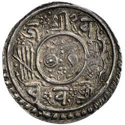 KATHMANDU: Jaya Chakravartendra Malla, 1669, AR mohar (5.50g), NS789. VF-EF