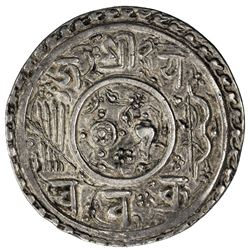 KATHMANDU: Jaya Chakravartendra Malla, 1669, AR mohar (5.46g), NS789. VF