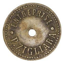 LEBANON: AE 1 piastre token (2.40g), ND [ca. 1910s]. VF