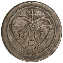 PENANG: AE pice, ND (1786), KM-5, Sch-973; SS-12, East India Company bale symbol, uniface, VF
