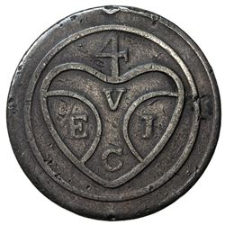 PENANG: AE pice, ND (1786), KM-5, Sch-973;SS-12, East India Company bale symbol, uniface, F-VF, S