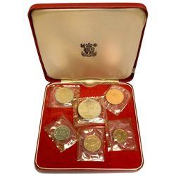 MUSCAT & OMAN: Sa'ud b. Taimur, 1932-1970, 6-coin proof set, AH1390 (1970)