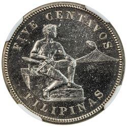 PHILIPPINES: U.S. Territory, 5 centavos, 1904. NGC PF64