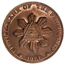 PHILIPPINES: pattern AE 50 sentimos, 1966. UNC