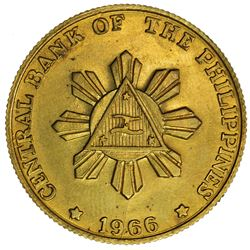 PHILIPPINES: pattern 50 sentimos, 1966. UNC