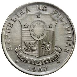 PHILIPPINES: pattern 50 sentimos, 1967. UNC