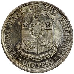 PHILIPPINES: silvered AE peso pattern, ND (1970). UNC