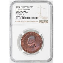 PHILIPPINES: LOT of two copper patterns