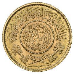 SAUDI ARABIA: 'Abd al-'Aziz b. Sa'ud, 1926-1953, AV guinea (sovereign) (7.96g), Makka al-Mukarrama (