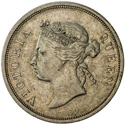 STRAITS SETTLEMENTS: Victoria, 1837-1901, AR 50 cents, 1896. VF