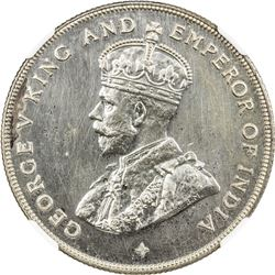 STRAITS SETTLEMENTS: George V, 1910-1936, AR dollar, 1920. NGC PF64
