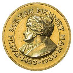 TURKEY: Republic, AV medal (16.00g), 1953. EF
