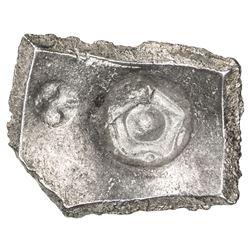 SHAKYA: Punchmarked, ca. 600-500 BC, AR 5 shana (6.98g). EF