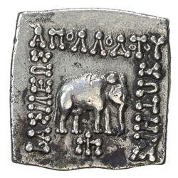 INDO-GREEK: Apollodotus I, ca. 180-160 BC, AR square drachm (2.41g). VF