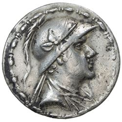 INDO-GREEK: Eukratides, ca. 170-145 BC, AR tetradrachm (16.47g). VF