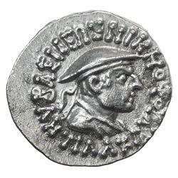INDO-GREEK: Antialkides, ca. 130-120 BC, AR drachm (2.41g). EF