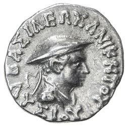 INDO-GREEK: Lysias, ca. 130-125 BC, AR drachm (2.42g). VF
