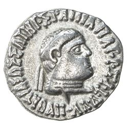INDO-GREEK: Apollodotus II, ca. 80-65 BC, AR drachm (2.36g). VF