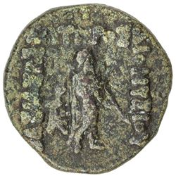 INDO-GREEK: Dionysos, ca. 65-55 BC, AE unit (15.83g). VF