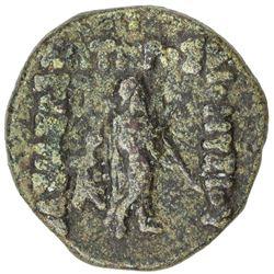 INDO-GREEK: Dionysos, ca. 65-55 BC, AE unit (15.83g). VF