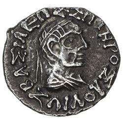 INDO-GREEK: Zoilos II, ca, 55-35 BC, AR drachm (2.28g). EF