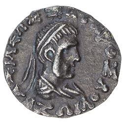 INDO-GREEK: Straton II, BC 25 - 10 AD, AR drachm (2.31g). VF-EF