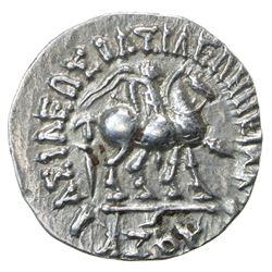 INDO-SCYTHIAN: Azes I, ca. 57-35 BC, AR drachm (2.36g). EF