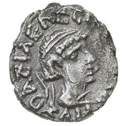 INDO-SCYTHIAN SATRAPS: Bhadrayasha, ca. 100 AD, AR drachm (2.07g). VF-EF