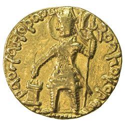 KUSHAN: Vasu Deva I, ca. 191-230+, AV dinar (8.02g). VF-EF