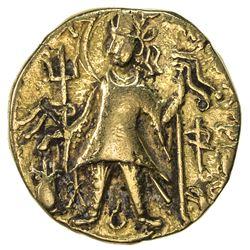 KUSHAN: Vasishka, ca. 240-250, AV dinar (7.5g). F-VF
