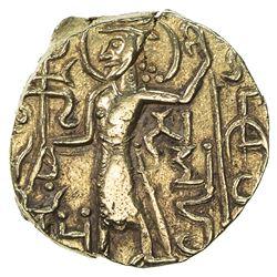 KUSHAN: Gadakhara, ca. 350-360s, AV dinar (7.56g). EF