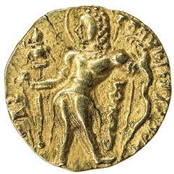 GUPTA: Chandragupta II, 383-412, AV dinar (stater) (8.01g). EF