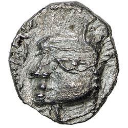 VARDHANA: Harshavardhana, ca. 606-647, AR drachm. EF