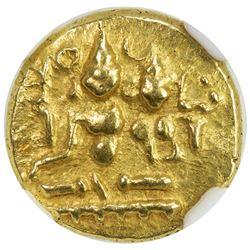 VIJAYANAGAR: Hara Hara II, 1377-1404, AV 1/2 pagoda. NGC AU50