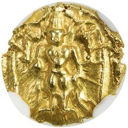 VIJAYANAGAR: Venkatapiraya, 1630-1641, AV 1/2 pagoda. NGC MS63