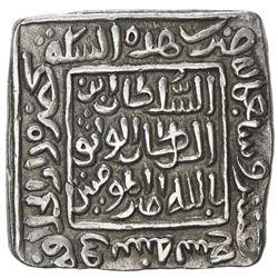 DELHI: Mubarakshah I, 1316-1320, AR square tanka (11.00g), Hadrat Dar al-Khilafa, AH719. EF