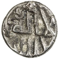 GOVERNORS OF SIND: Anonymous, ca. 752-758, AR damma (0.39g), NM, ND. VF