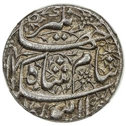 MUGHAL: Jahangir, 1605-1628, AR sawai rupee, Lahore, AH1017 year 3. NGC AU58