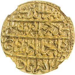 MUGHAL: Shah Jahan I, 1628-1658, AV mohur, Akbarabad, AH1042 year 6. NGC MS65