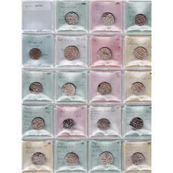 MUGHAL: Aurangzeb, 1658-1707, LOT of 37 silver rupees and 1 silver ½ rupee
