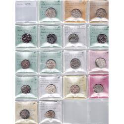 MUGHAL: Shah Alam Bahadur, 1707-1712, LOT of 17 silver rupees