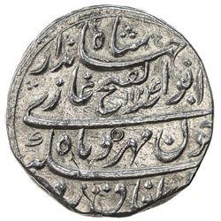 MUGHAL: Jahandar, 1712-1713, AR rupee (11.36g), Kashmir, AH1124 year one (ahad). EF